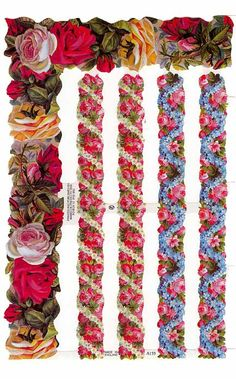 Made in England floral borders for paper crating