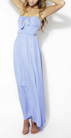 Summer Blue Zoe Silk Maxi Dress