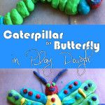 This week we are all about The Very Hungry Caterpillar by Eric Carle. A few days ago we made some homemade play dough, which today we were very happy to turn into a caterpillar which then turned into a butterfly!