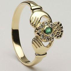 Ladies Gold Claddagh Ring CLAD15
