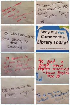 """Shelf Check: """"Why did you come to the library today?"""" Participatory Display"""
