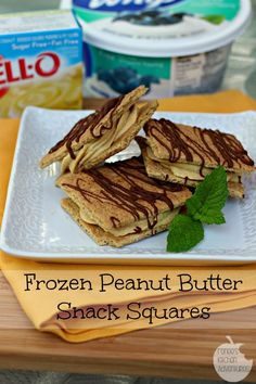 Quick and Easy Frozen Peanut Butter Snack Squares: #AddCoolWhip #shop #dessert 4PP