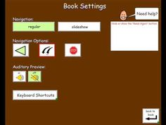 Accessible Talking Book Template for Boardmaker Plus