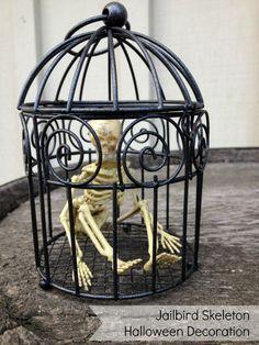 Jailbird Skeleton Halloween Decoration
