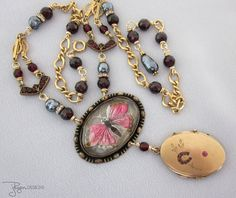 Antique Assemblage Jewelry Victorian Locket by jryendesigns, $195.00