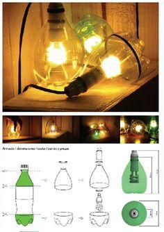 Plastic bottle DIY lantern