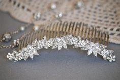 Crystal Bridal Hair Comb Vintage Hair Comb Wedding by BrideShop, $48.00