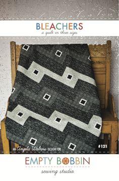 modern quilt pattern, empty bobbin pattern, angela walters pattern, guy quilt, man quilt