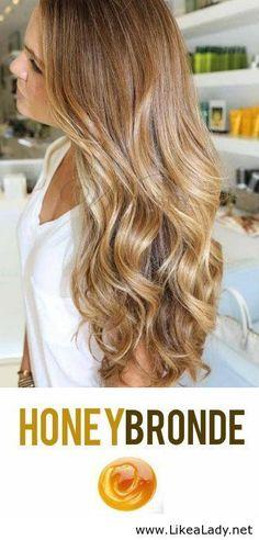 Honey Bronde Hair Color.