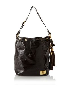 Just Cavalli Women's Gold Accented Drawstring Tote at MYHABIT