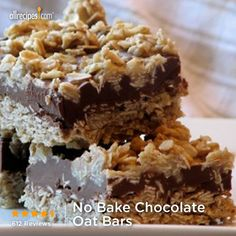 "No Bake Chocolate Oat Bars | ""My kids love these! They are requested quite frequently and are super easy to make!!"""