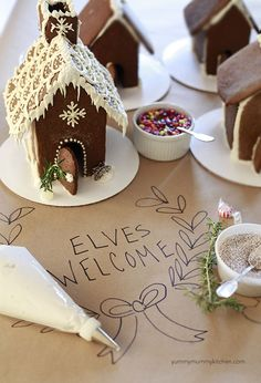 How to make a gingerbread house + throw a decorating party. holiday parties, gingerbread party, little houses, gingerbread parti, decor parti, gingerbread houses, elv, house parties, christma