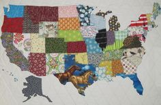 USA Patchwork Map pattern on Craftsy.com