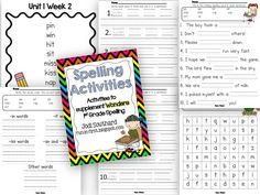 Spelling Homework to supplement Wonders Reading Series