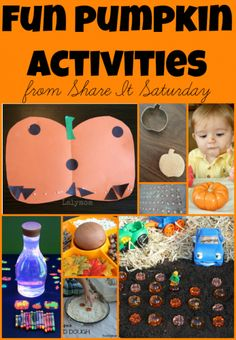 Fun Pumpkin Activities from Share It Saturday