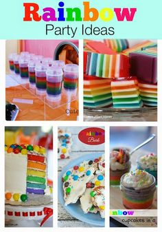 Rainbow Party Ideas & #Recipes