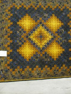 Radiant Sunshine and Shadow by Diana Martin.  Posted by The Secret Life of Mrs. Meatloaf: Common Threads Quilt Show, Part 3