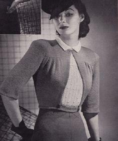Vintage jacket knitting pattern