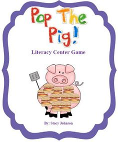 Mrs. Johnson's First Grade: Literacy Center Games with Pop the Pig