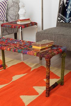 Rainbow Weave Bench #urbanoutfitters