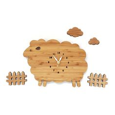 for the BABY: sheep wall clock & pasture scene from Decoylab $85