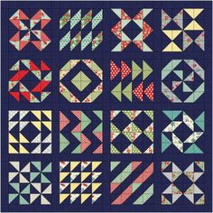 2014 Layer Cake Sampler BOM quilt from Material Girl Quitls - version 2