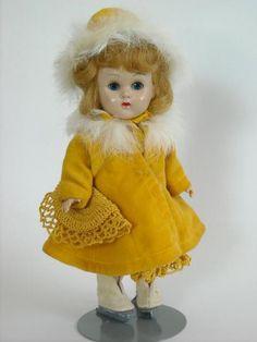Vogue Ginny Walker Doll- Original Fur Coat, Hat, & Skates