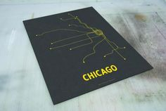 We're still suckers for Chicago-themed posters, and a new one just entered the market. This Chicago Line Poster screenprint is a simple, yet modern depiction of the El lines.