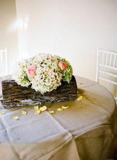 Logs in your centerpieces. - Weddingbee
