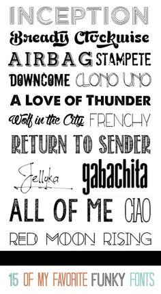 Design | 15 Funky Fonts