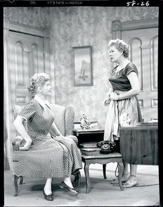 Lucille Ball and Vivian Vance in I Love Lucy.