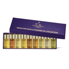 Aromatherapy Associates Miniature Bath & Shower Oil Collection | Organic Spa Magazine's 2013 Gift Guide: Home Spa Goer | #OrganicSpaMagazine