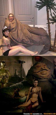 Parecidos NO razonables: Jabba y Princesa Leia