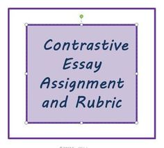 compare contrast character essay rubric