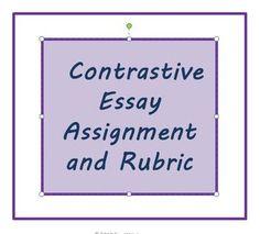 Compare contrast essay rubrics high school