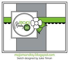 Mojo Monday - The Blog: Mojo Monday 342 Card sketch designed by Julee Tilman.  #vervestamps #mojomonday #cardsketches