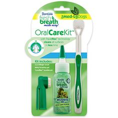 Help your pet achieve that winning smile with this Fresh Breath Oral Care Kit  from Tropiclean.