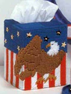 eagl, tissue boxes, plasticcanva, tissue box covers, tissu box
