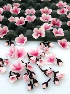 Gumpaste cherry blossom flowers tutorial