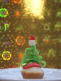 cupcake kerst met zure mat. Zo simpel maar leuk