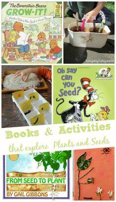 Books and Activities That Explore Plants and Seeds #gardening #preschool #homeschool