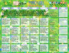 #MarchMakeover Calendar