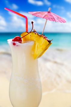 Pina Colada.                                                       1 ounce of light rum 1 ounce of spiced rum 2 ounces of coconut cream 1 ounce of pineapple juice