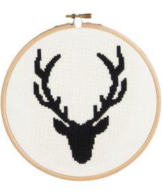 Liberty of London stag head cross stitch kit