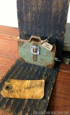 Pop-up card. Clever use of the Pop 'n Cuts Suitcase plus companion Bigz Suitcase to create a pop-up Gift Card Holder. Stamptramp: Suitcase Gift Card Pop 'n Cuts