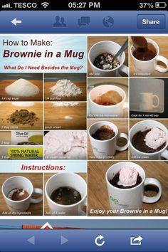 Brownie in a mug recipe - stevie poos b day prezz