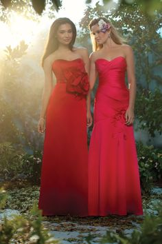 Gorgeous bridesmaid gowns by Alfred Angelo