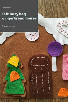 Felt busy bag ginger