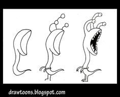How to Draw Cartoons: How to draw an alien devourer