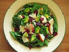salad w gala apple avocado almonds dried cranberries and apple cider ...